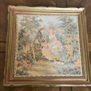 # 858  Vintage Tapestry paintings.